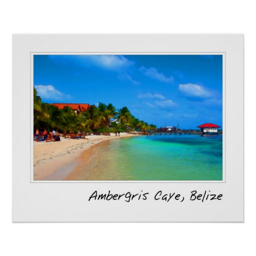 Ambergris Caye Belice Posters