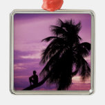 Ambergris Caye, Belize, Central America. Metal Ornament