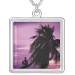 Ambergris Caye, Belize, Central America. Silver Plated Necklace