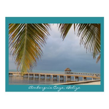 Beach Themed Ambergris Caye, Belize Postcard