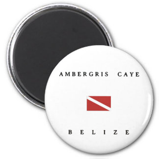 Ambergris Caye Belize Scuba Dive Flag 2 Inch Round Magnet
