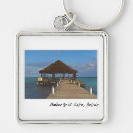 Ambergris Caye Belize Travel Destination Keychain