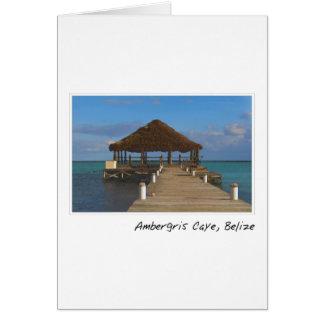 Ambergris Caye Belize Tropical Destination Card