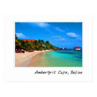 Ambergris Caye San Pedro Belice Tarjeta Postal