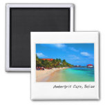 Ambergris Caye San Pedro Belize 2 Inch Square Magnet