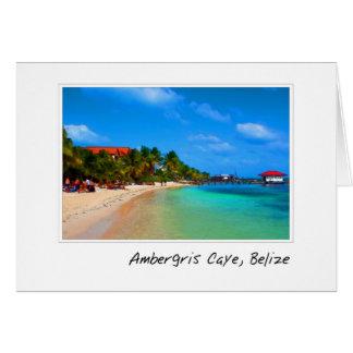 Ambergris Caye San Pedro Belize Card