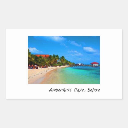 Ambergris Caye San Pedro Belize Sticker