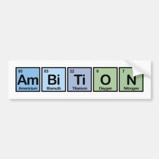 Ambición hecha de elementos pegatina de parachoque
