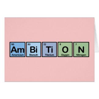 Ambición hecha de elementos tarjeta de felicitación