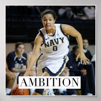Ambición - poster de motivación del baloncesto