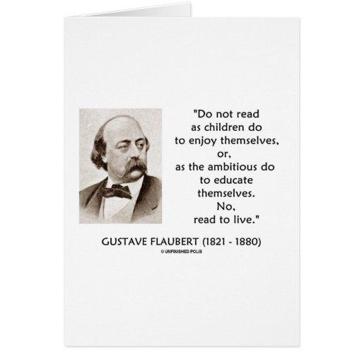 Ambicioso de los niños de Gustave Flaubert leído a Tarjetón