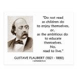 Ambicioso de los niños de Gustave Flaubert leído a Tarjeta Postal