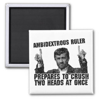 Ambidextrous Ruler 2 Inch Square Magnet