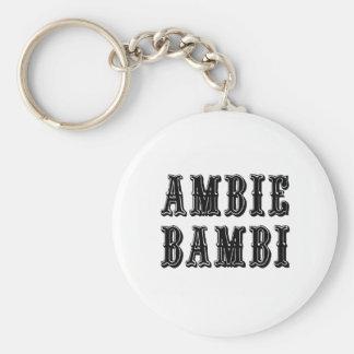 Ambie Bambi Basic Round Button Keychain