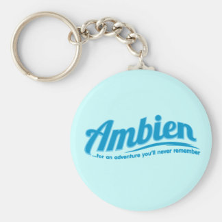 Ambien: For an adventure you'll never remember Basic Round Button Keychain