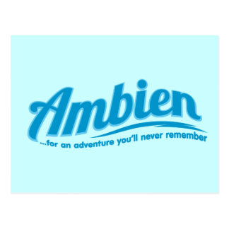 Ambien: For an adventure you'll never remember Postcard