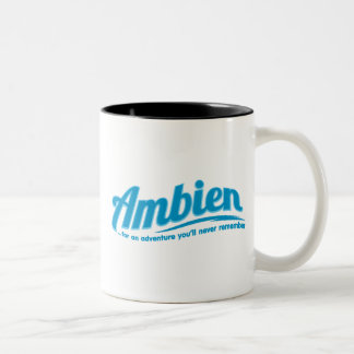 Ambien: For an adventure you'll never remember Two-Tone Coffee Mug