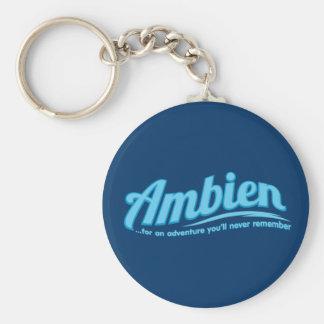 Ambien: Para una aventura usted nunca recordará Llavero Redondo Tipo Pin