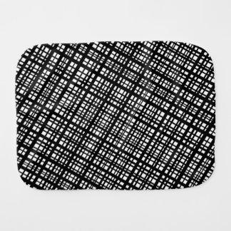 Ambient 35 - Designer black and white diagonals Baby Burp Cloth