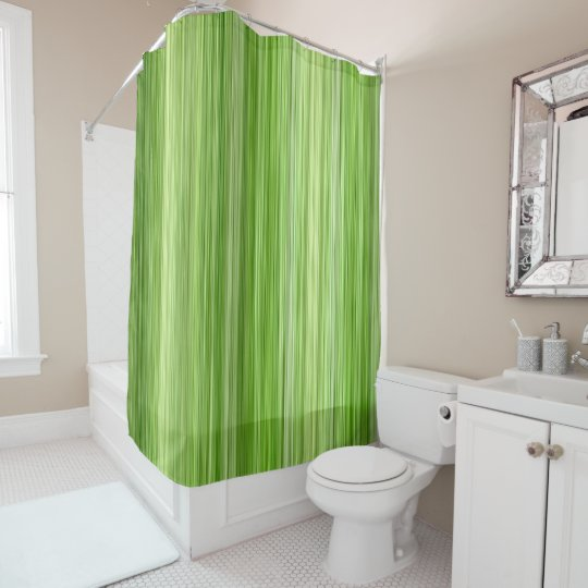 Ambient 3 Green Original Modern Design Key Lime Shower Curtain