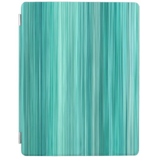 Ambient #5 Teal, original modern stripped pattern iPad Smart Cover