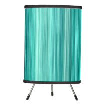 Ambient #5 Teal, original modern stripped pattern Tripod Lamp
