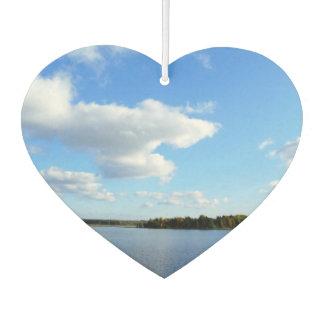 Ambientador de aire del corazón del día de verano,