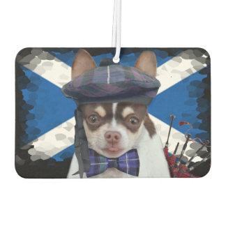 Ambientador de aire escocés del coche del perro de