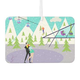 Ambientador de aire retro de la estación de esquí
