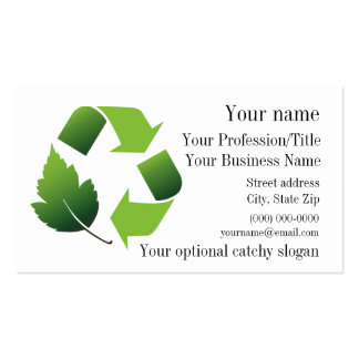 Ambiental recicle la tarjeta de visita del diseño