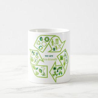 Ambientalmente el verde respetuoso del medio ambie tazas