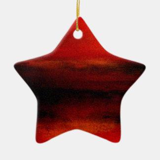 Ambiente (4) adorno de cerámica en forma de estrella