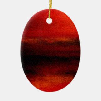 Ambiente (4) adorno ovalado de cerámica