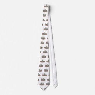 Ambiente apretado agotador del lugar de trabajo corbata personalizada