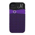 Ambiente blanco negro púrpura iPhone4 del lunar de Vibe iPhone 4 Funda