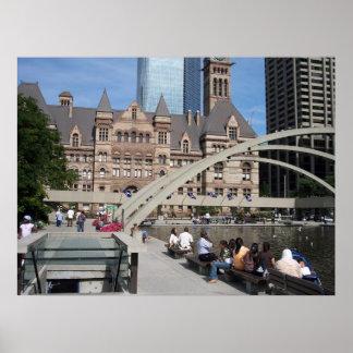 Ambiente céntrico de Toronto Póster