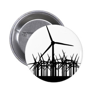 ambiente de la energía eólica pin redondo de 2 pulgadas