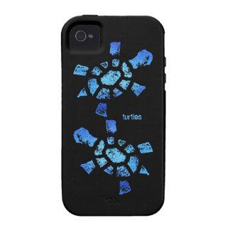 Ambiente de las tortugas del agua azul iPhone 4 carcasas