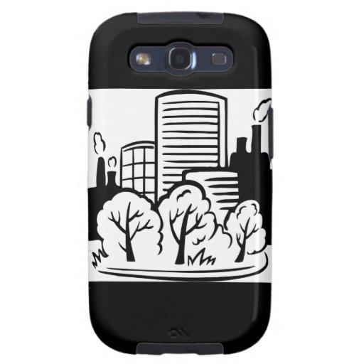 Ambiente de los edificios de Eco Samsung Galaxy S3 Protectores