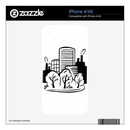 Ambiente de los edificios de Eco iPhone 4 Skins