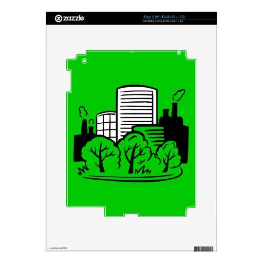 Ambiente de los edificios de Eco Skin Para El iPad 2