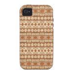 Ambiente de madera tribal del iPhone 4/4S del Case-Mate iPhone 4 Carcasas