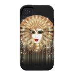 Ambiente de oro del caso del iPhone 4 del carnaval Case-Mate iPhone 4 Carcasa