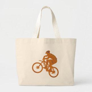 Ambiente del desierto de la bici bolsa de mano