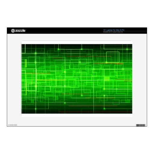Ambiente eléctrico de color verde oscuro portátil 38,1cm skins