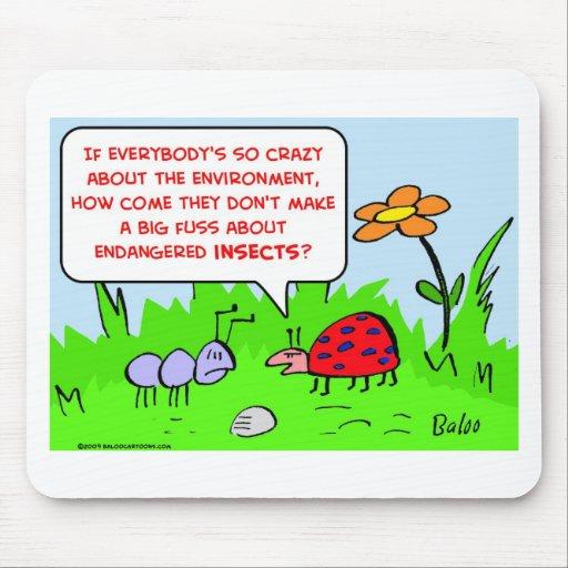 ambiente en peligro de los insectos alfombrilla de raton