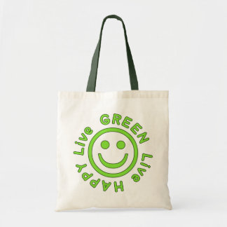 Ambiente feliz vivo Eco del verde vivo favorable a Bolsa De Mano