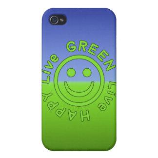 Ambiente feliz vivo Eco del verde vivo favorable a iPhone 4/4S Carcasas