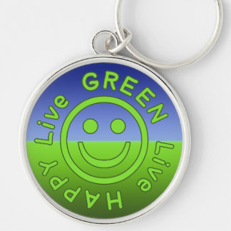Ambiente feliz vivo Eco del verde vivo favorable a Llavero Personalizado
