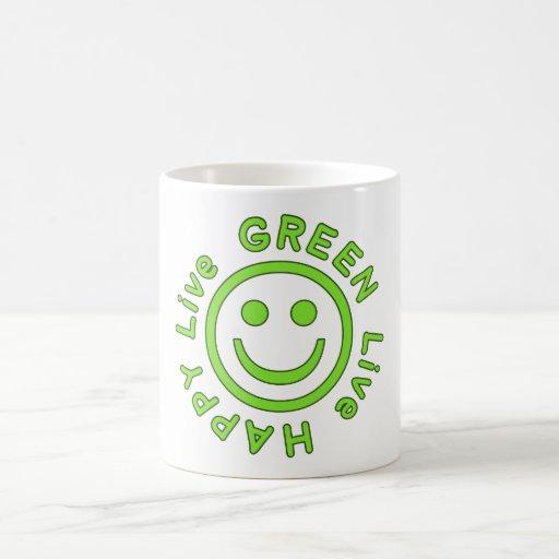 Ambiente feliz vivo Eco del verde vivo favorable a Tazas